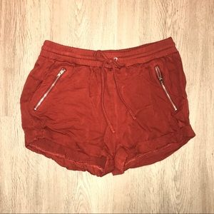 Brick red shorts